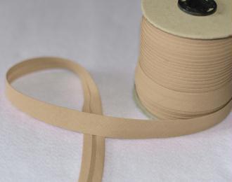Biais Coton Beige Largeur 18 mm Avec Rabats de 7mm – Coupe au mètre