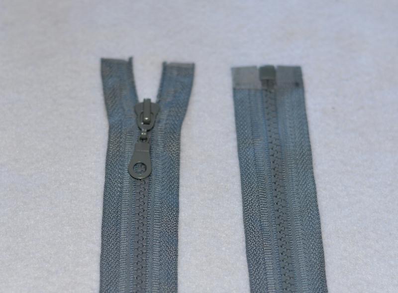 Fermeture Eclair Séparable Maille 5 mm Plastique Injecté. Beige 60 cms