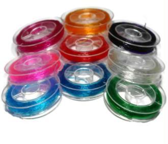 Fil élastique cristal  color 0.9mm bobine 7 mètres ( Crystal tec )