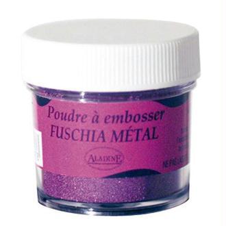 Poudre embossage Fuchsia Métal 25 ml