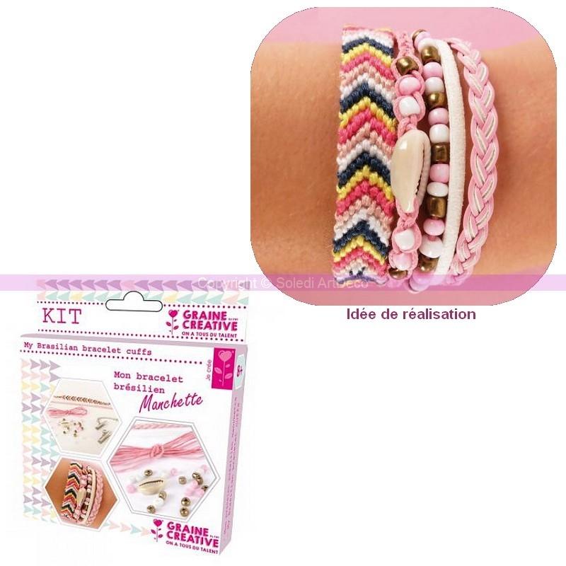 Kit diy bracelet br silien manchette tresser en fils for Amour de cuisine basboussa