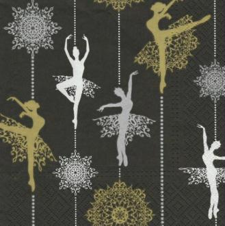 4 serviettes en papier découpage collage 33 cm DANSEUSE 322