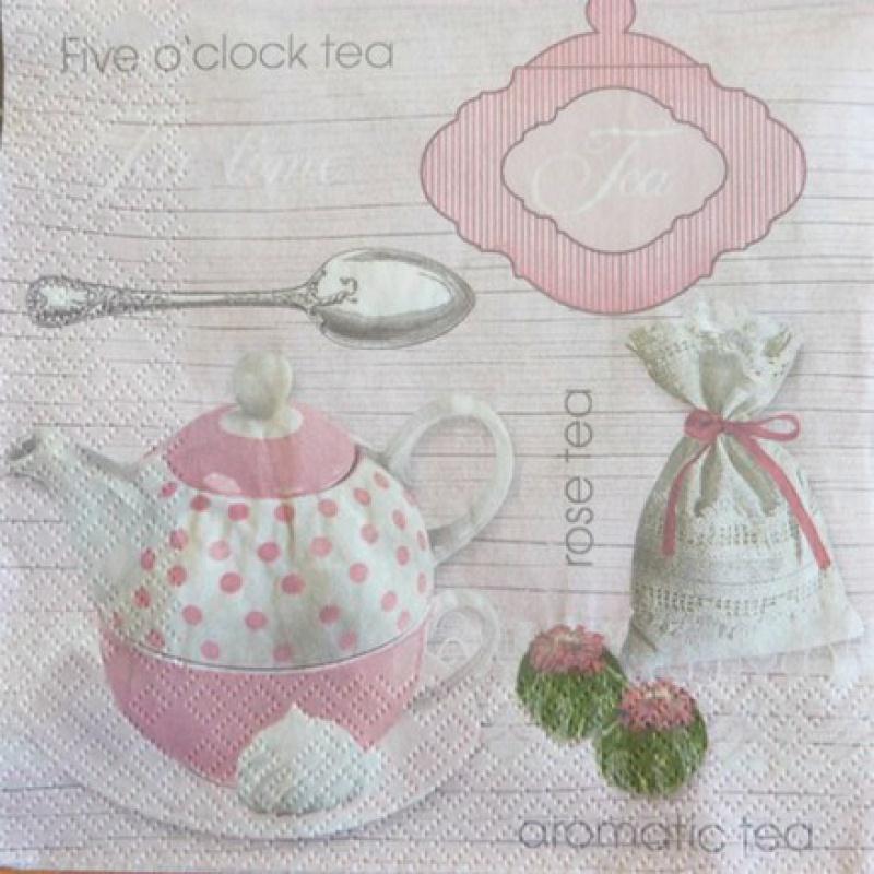 4 serviettes en papier d coupage collage 33 cm tea rose 309 serviette en papier divers creavea. Black Bedroom Furniture Sets. Home Design Ideas
