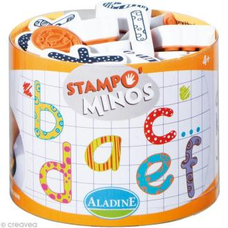 Kit 26 tampons enfant Stampo'minos Alphabet Minuscules