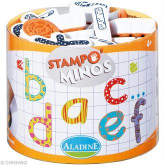 Kit 26 tampons enfant Stampo'minos Alphabet Minuscules