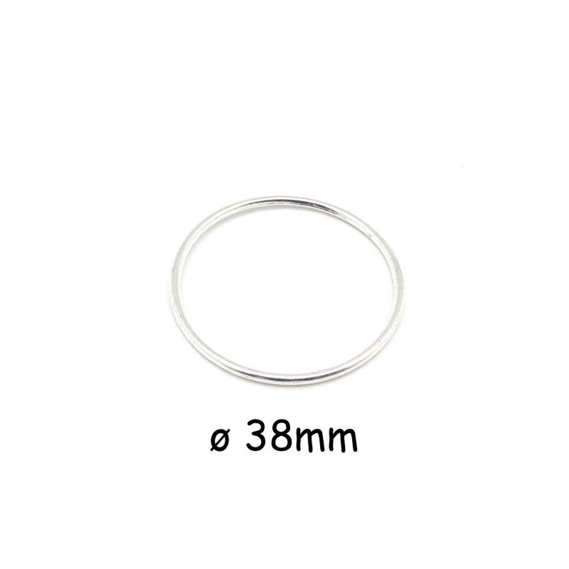 5 grands anneaux ferm s cercles 38 2mm en m tal argent pour mini attrape r ve par exemple. Black Bedroom Furniture Sets. Home Design Ideas