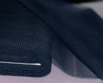 Tissu Tulle Raide Bleu Marine Largeur 150cms – Coupe au mètre