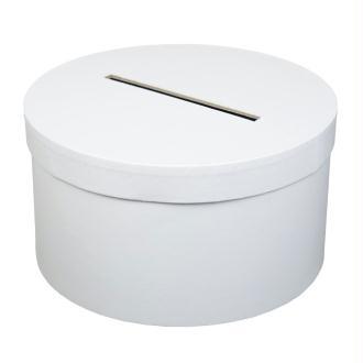 Urne tirelire ronde blanche 25cm