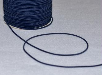 Bleu Marine - Cordon Rond Elastique Ø 2mm Souple - Coupe au mètre