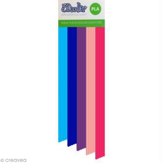 Recharge bâton plastique PLA Stylo 3D - Bubble Gum - 25 pcs