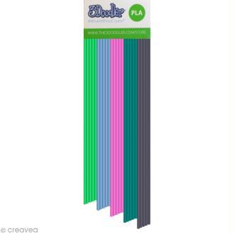 Recharge bâton plastique PLA Stylo 3D - Clearly Springtime - 25 pcs