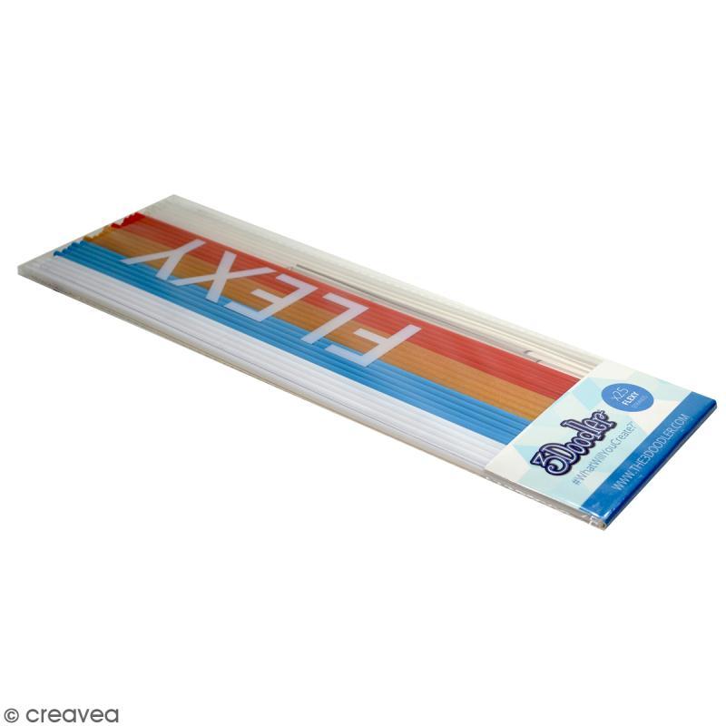 recharge b ton plastique flexy stylo 3d raise the flag 25 pcs stylo 3d creavea. Black Bedroom Furniture Sets. Home Design Ideas