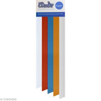 Recharge bâton plastique Flexy Stylo 3D - Raise the Flag - 25 pcs