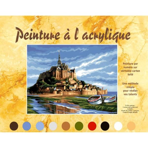 Peinture numéro adulte - Mont Saint Michel - Photo n°2