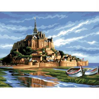 Peinture numéro adulte - Mont Saint Michel