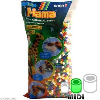 Perles Hama Midi diam. 5 mm - Assort. basic x6000