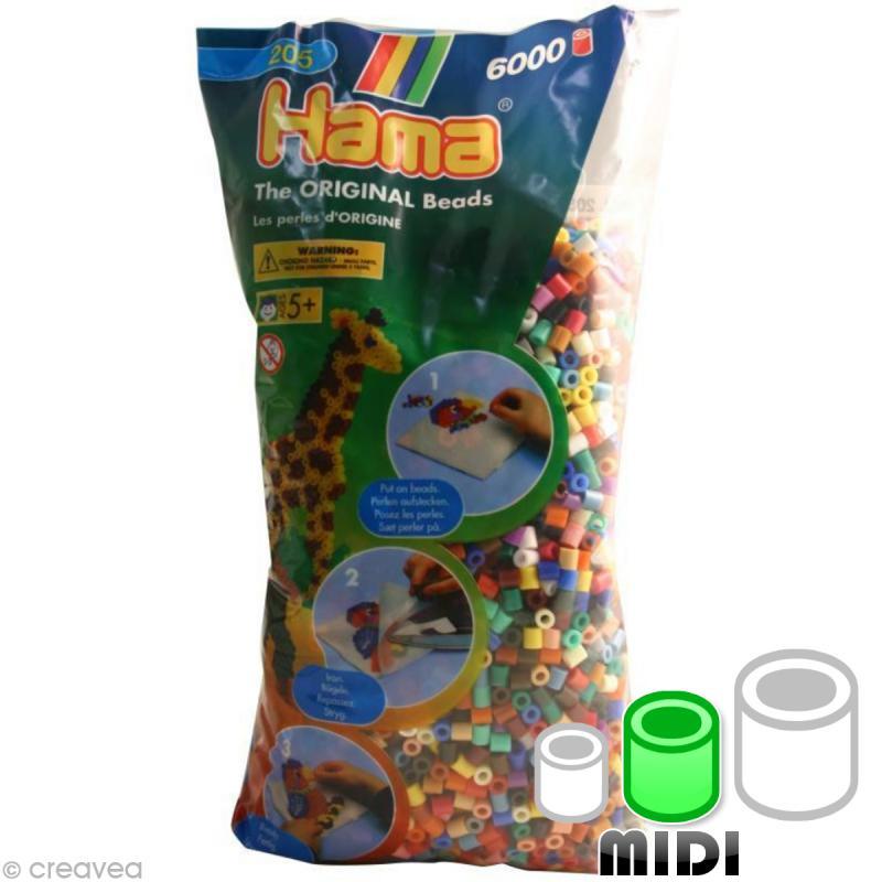 Perles Hama Midi diam. 5 mm - Assort. classique x6000 - Photo n°1