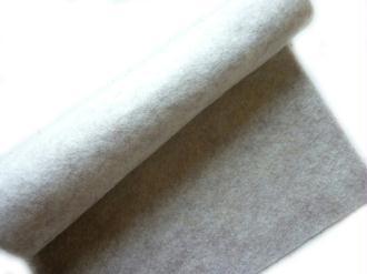 Feutrine beige bois flotté 30 x 22 cm écologique polaire, souple