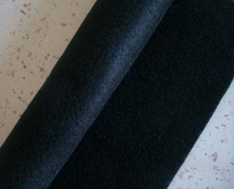 Feutrine noir 2 mm -  30 x 22 cm écologique polaire, souple