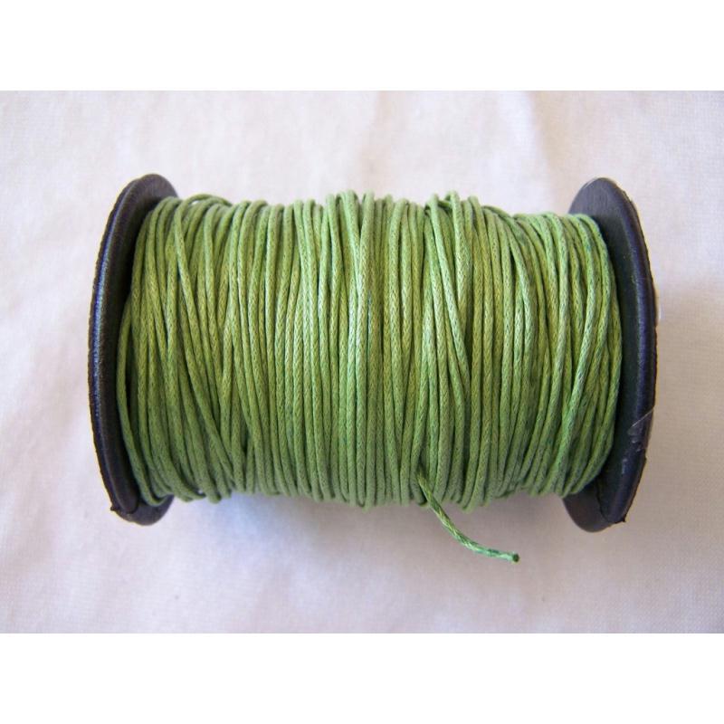 cordon coton cir vert mousse au m tre cordon coton cir creavea. Black Bedroom Furniture Sets. Home Design Ideas