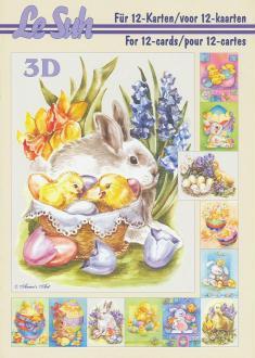 Bloc Livre 3D A5 à découper Pâques