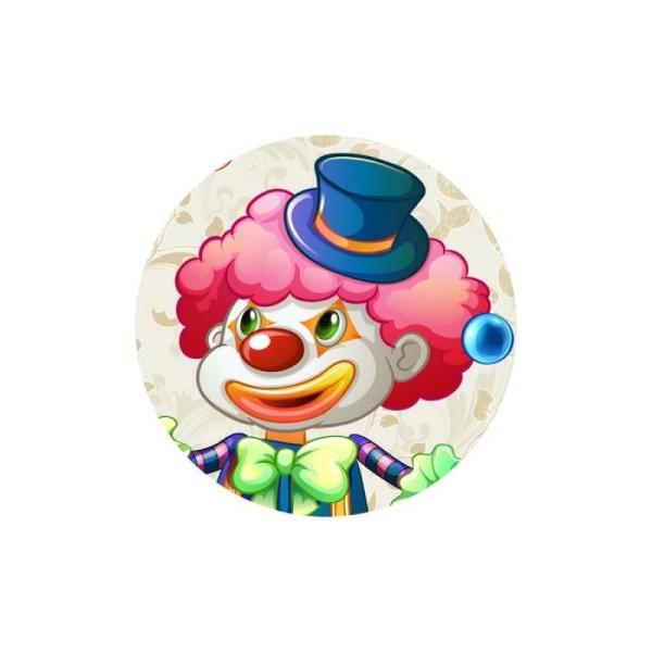1 Cabochon 30 mm en Verre Clown Joyeux 2 - 30 mm - Photo n°1