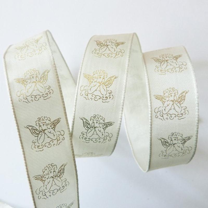1 m de ruban galon fantaisie 2,4 cm couture scrapbooking ANGE NOEL DORE - Photo n°1