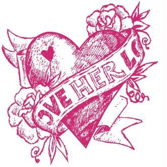 Pochoir autocollant pour textile My Style Coeur rétro 21 x 29,7 cm