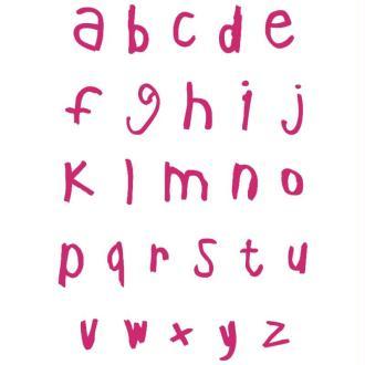 Pochoir autocollant pour textile My Style Alphabet script minuscules 21 x 29,7 cm