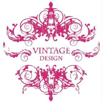 Pochoir autocollant pour textile My Style Vintage Design 21 x 29,7 cm