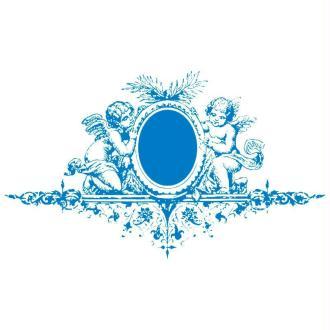 Pochoir textile adhésif My Style Anges et ornements 21 x 14,8 cm