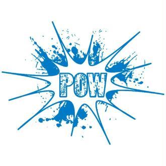 Pochoir textile adhésif My Style Pow 21 x 14,8 cm