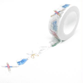 Washi Tape fournitures scolaire 10Mx15mm multicolore