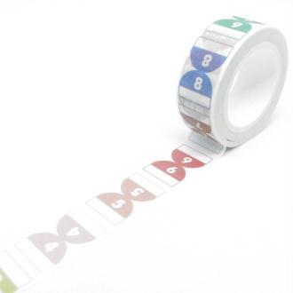 Washi Tape motifs daily 7Mx15mm multicolore