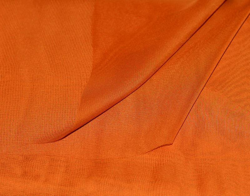Tissu mousseline polyester fluide orange coupe par for Art et cuisine chaudron line