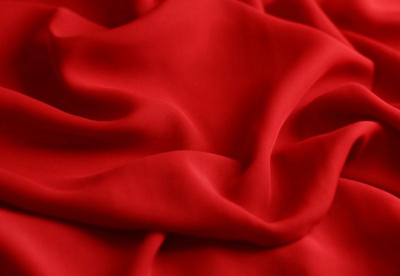 Tissu mousseline polyester fluide rouge herm s for Art et cuisine chaudron line