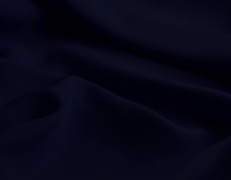 Tissu mousseline polyester fluide bleu marine for Art et cuisine chaudron line