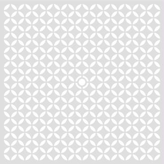 Pochoir Geometrique 32 x 32 cm - Pochoir Artemio - Stencil Geometrique - 15092001