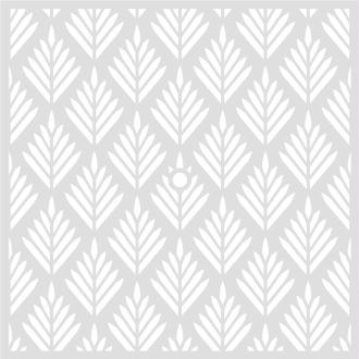 Pochoir Géométrique 32 x 32 cm - Pochoir Feuilles - Stencil Géométrique - 15092008