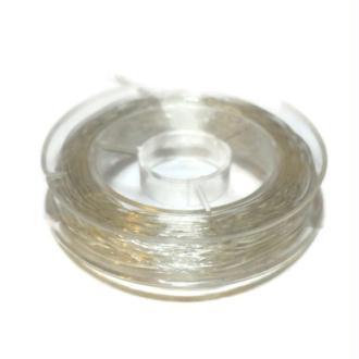 Fil nylon transparent  0.5 mm x 15 m  Non élastique  ( fil de pèche )