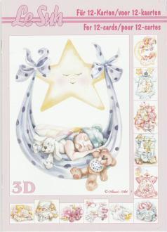 Bloc Livre 3D A5 à découper Naissance Bébé