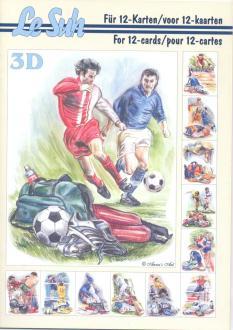 Bloc Livre 3D A5 à découper Sport