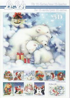 Bloc Livre 3D A5 à découper Animaux Noël