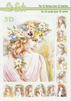 Bloc Livre 3D A5 à découper Fille Fleurs