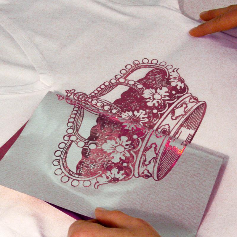 Papier transfert textile m tallis my style rouge bleu et - Papier transfert pour textile ...