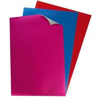 Papier transfert textile métallisé My Style Rouge, bleu et lilas 21 x 29,7 cm - 3 feuilles