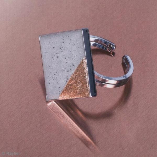 Moule à bijoux losange pour béton, Pendentif en caoutchouc flexible, 3,9 cm, remplissage 7 mm - Photo n°4