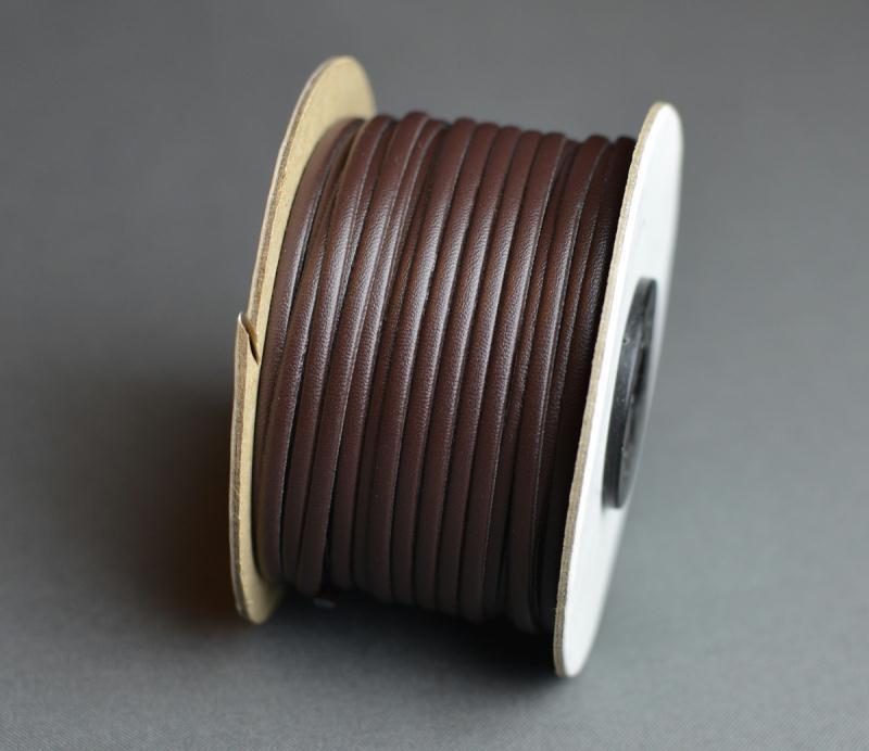 ruban lani re faux cuir skai simili 3 mm marron. Black Bedroom Furniture Sets. Home Design Ideas