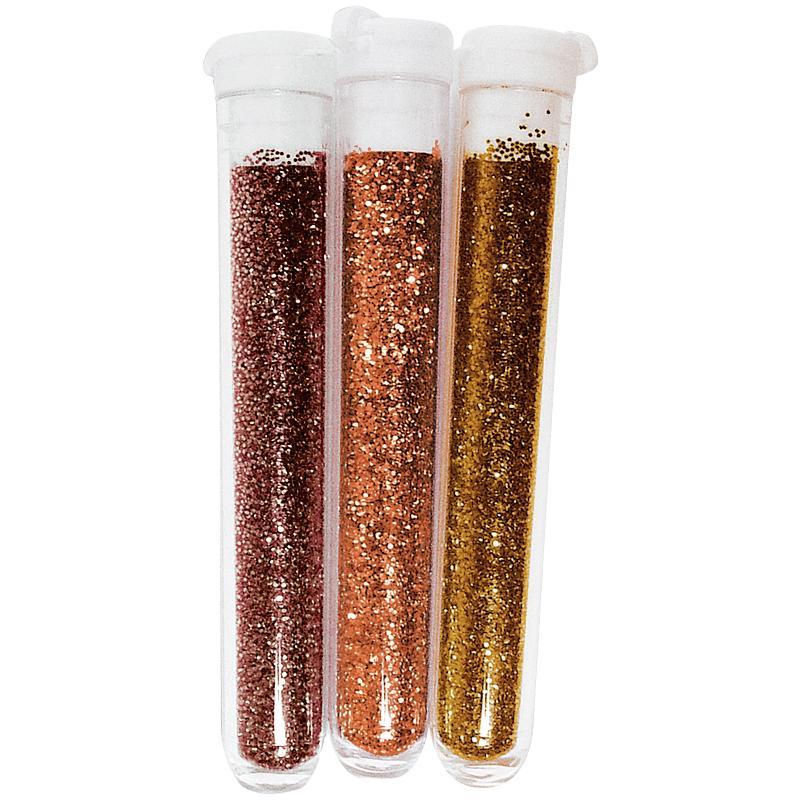 Poudre de paillettes fines Brun - 3 tubes de 3 grammes - Photo n°1