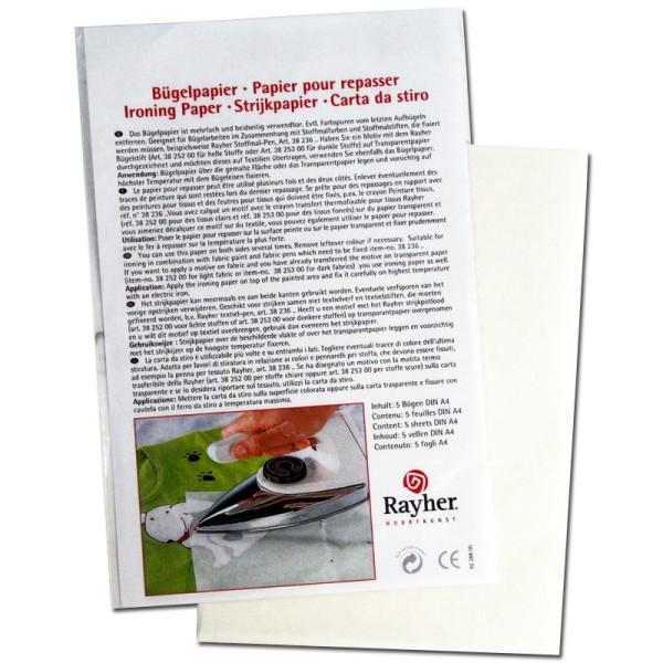 Papier à repasser blanc My Style 21 x 29,7 cm -5 feuilles - Photo n°1
